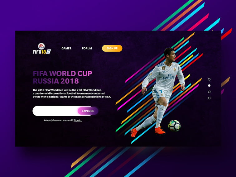 sp rusija 2018 web dizajn website layout kristijano ronaldo