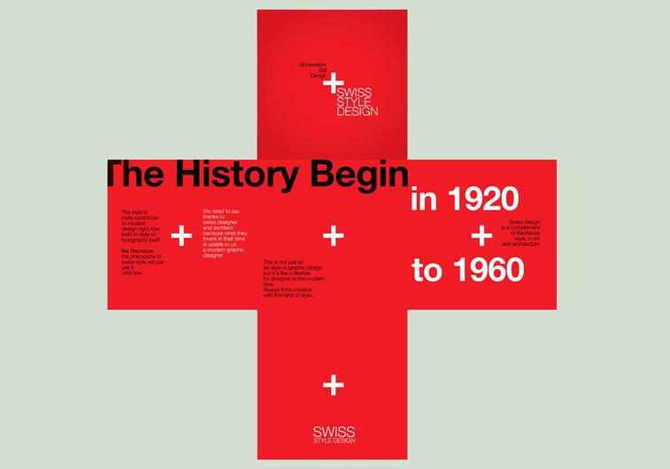 swiss style poster helvetica svajcarska zastava