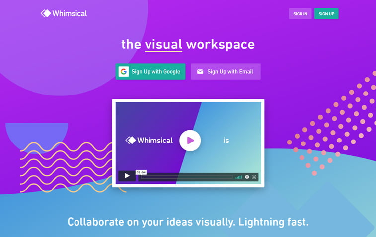 whimsical flowchart design tool