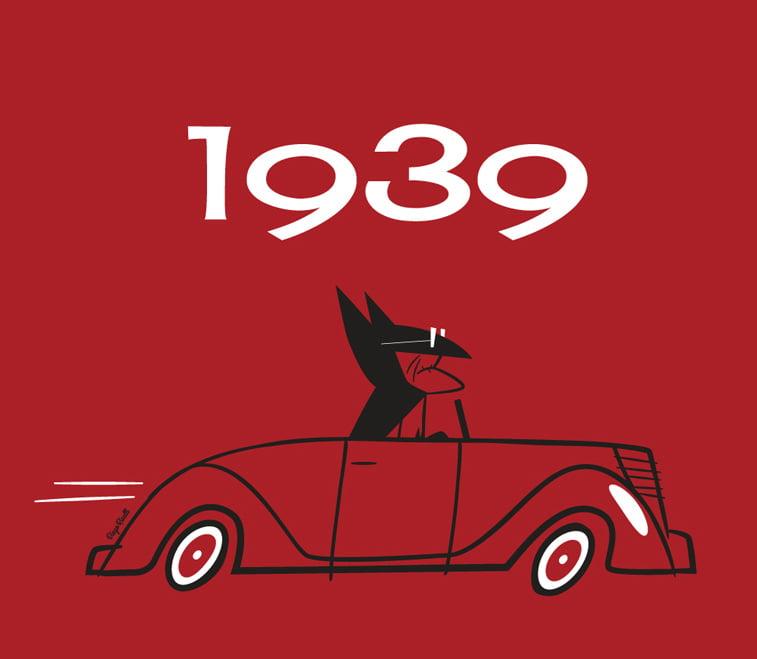 ilustracija 1939 betmen automobil