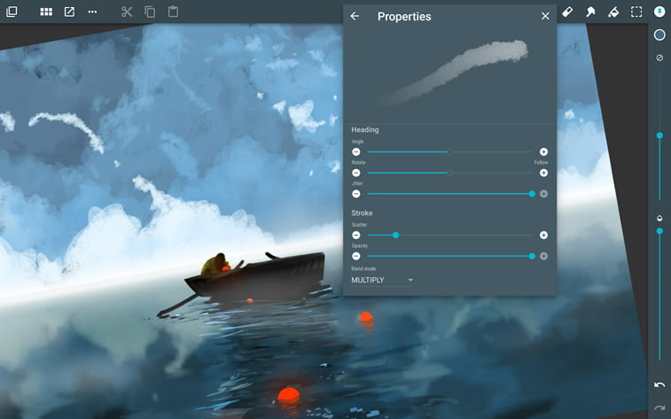 ArtFlow aplikcija jezero camac ilustracija