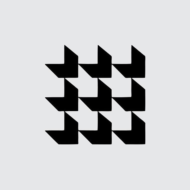 kvadrati izometrijski logo 1969.
