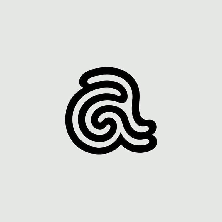 dizajn logoa aquas slovo a