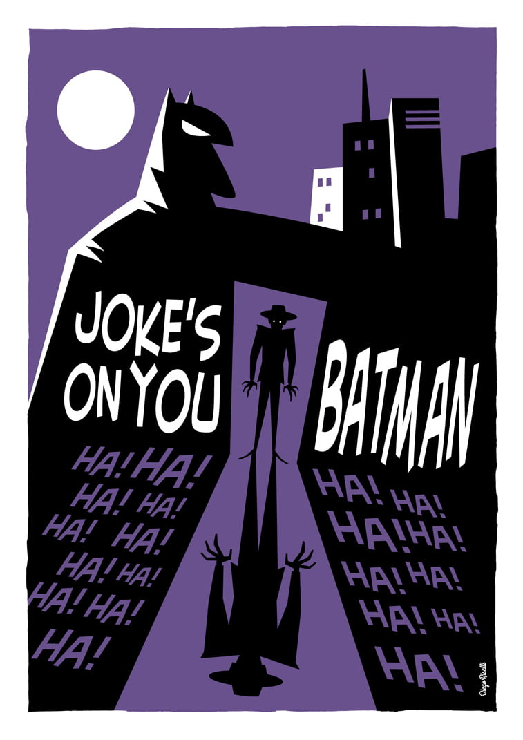 betmen joke gotham city ilustracija
