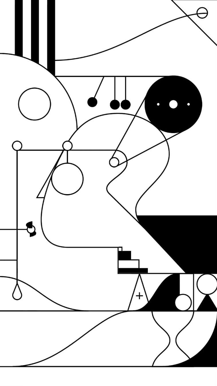 kontrats mobilna igra ilustracija glava pokretni elementi