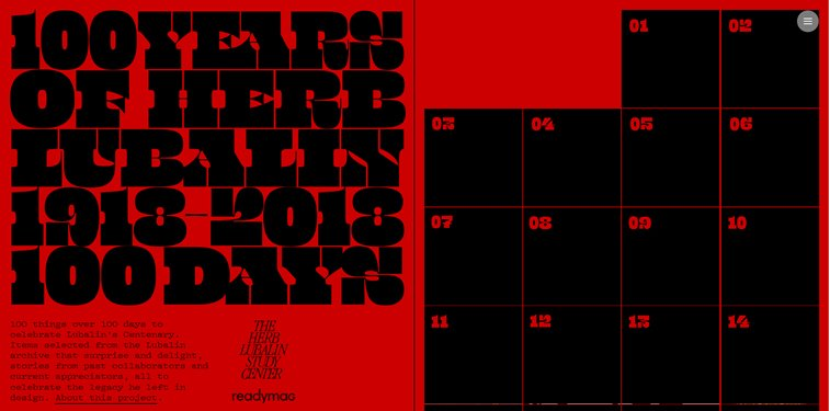 lubalin 100 herb lubalin tipografija