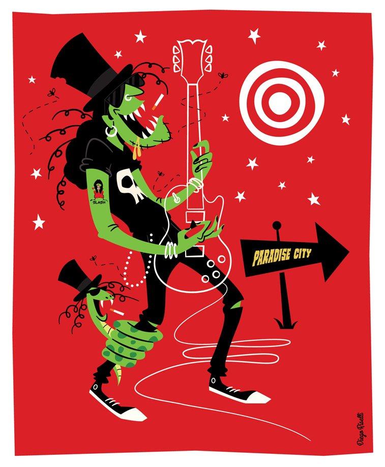 slash gitara ilustracija