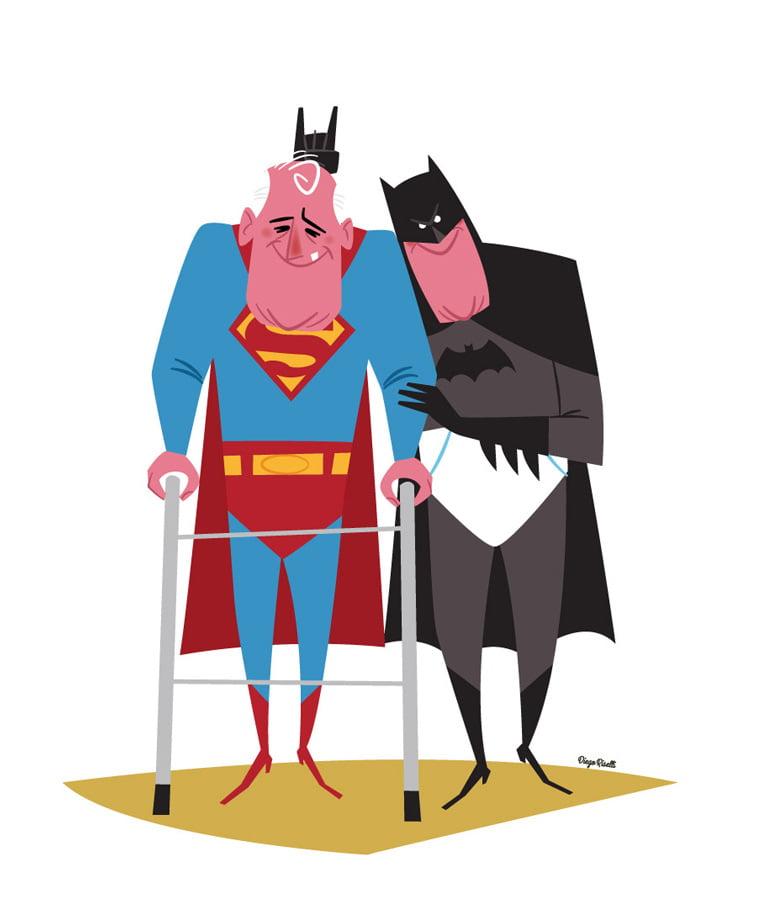 supermen betmen ilustracija