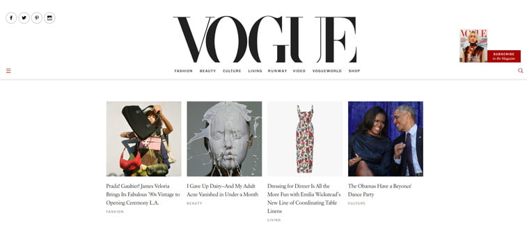 vogue magazin vebsajt serif font