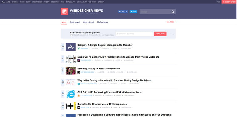 webdesigner news blog