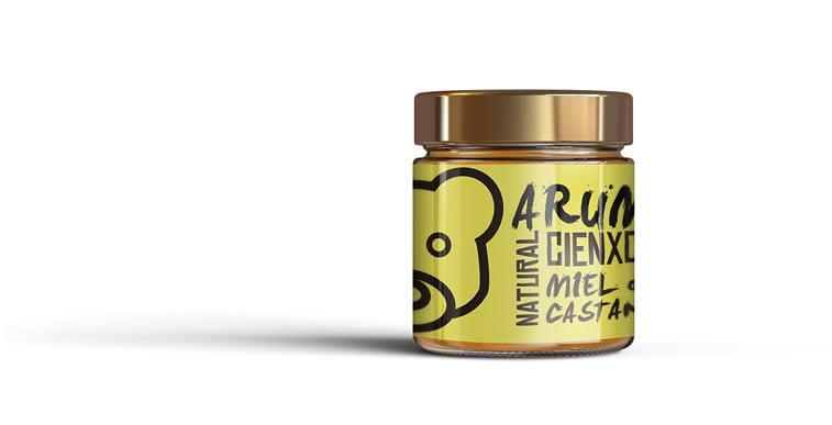arume organic honey label 1