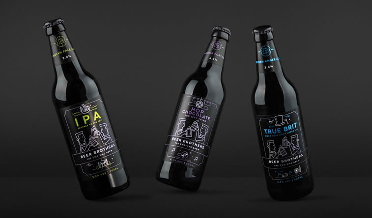 beer packaging design beerbros bottles