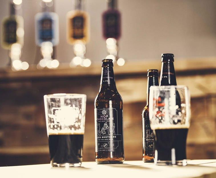 beer packaging design beerbros glasses