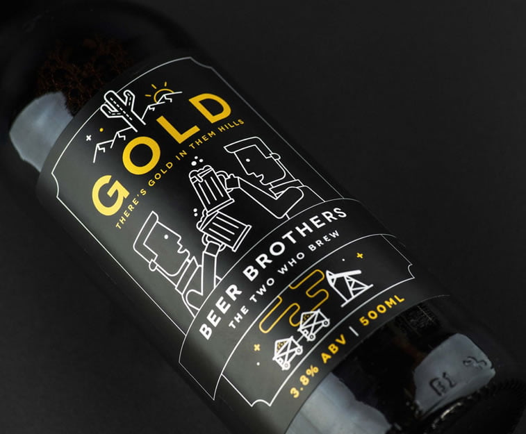 beer packaging design beerbros gold