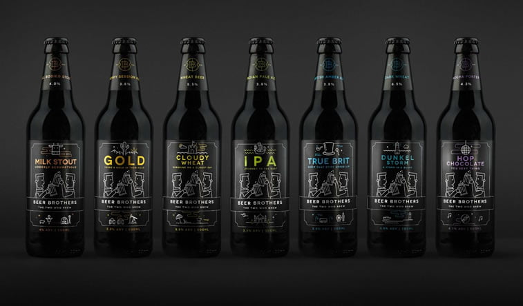 beer packaging design beerbros lineup