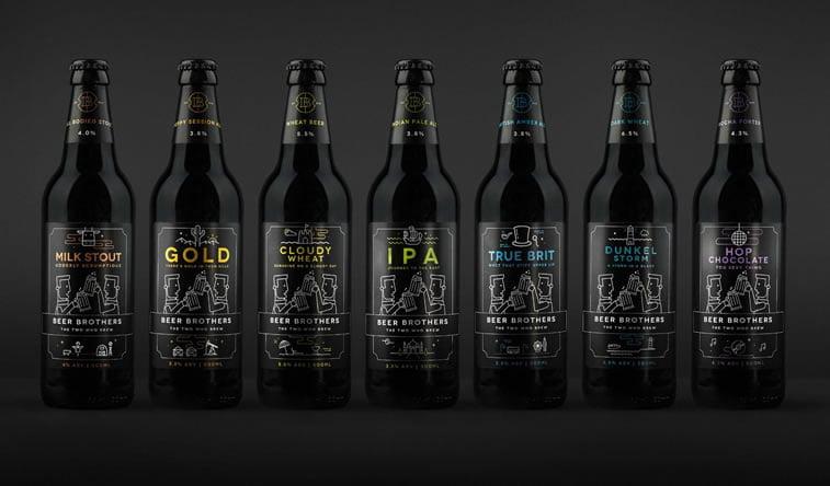 beer packaging design beerbros lineup