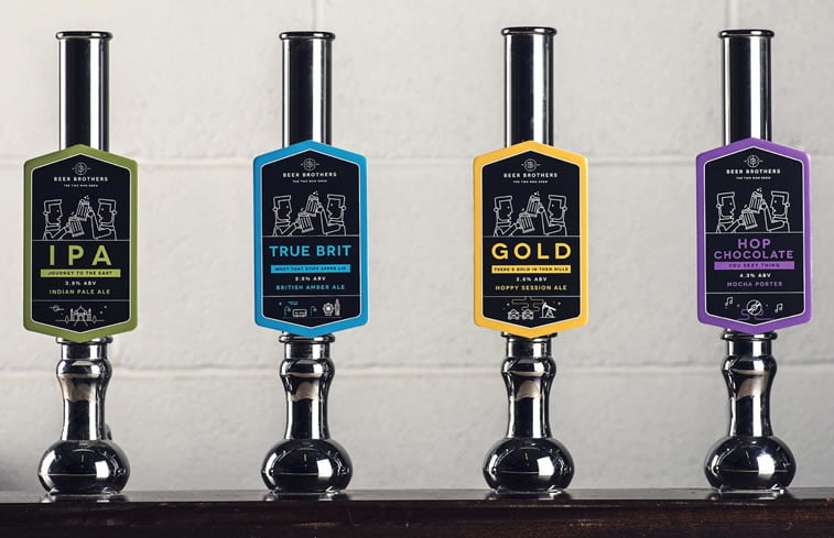 beer packaging design beerbros pumps