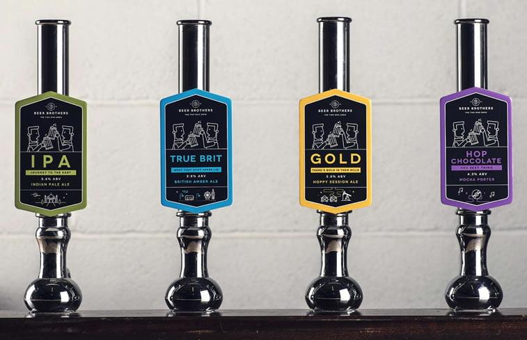 beer packaging design beerbros pumps