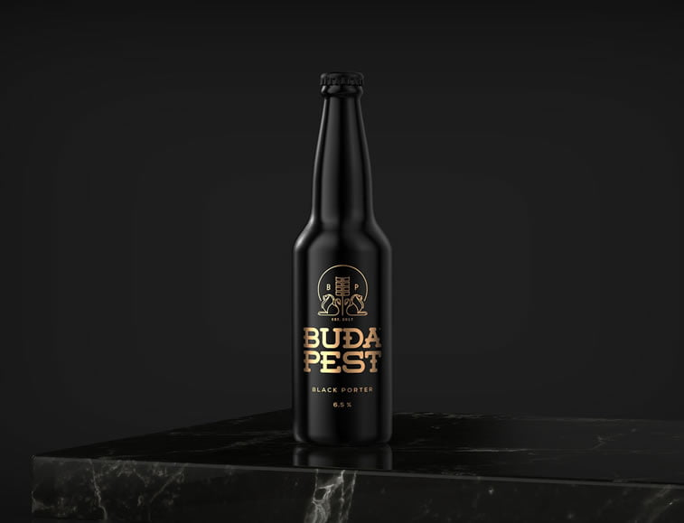 beer packaging design budapest beer 1
