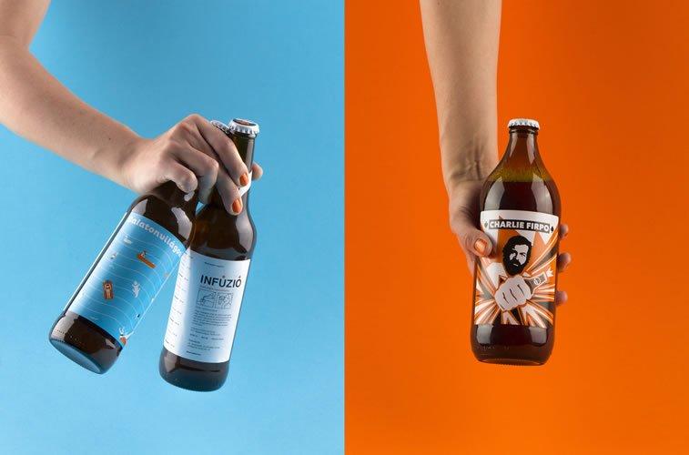 beer packaging design charlie infuzio