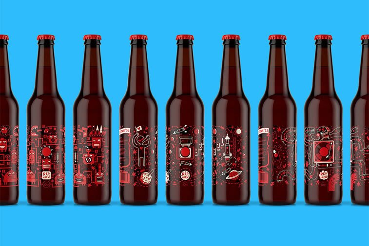 beer packaging design moscow red button 1