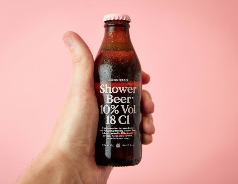 beer packaging design shower beer 1