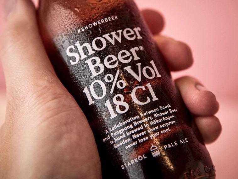 beer packaging design shower beer 2