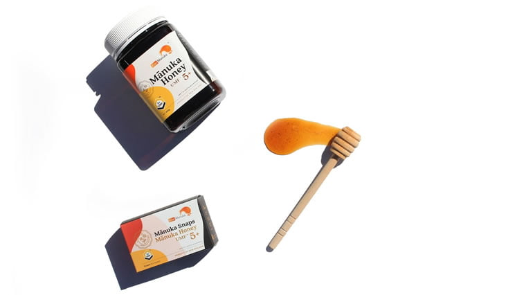 kiwi manuka honey label 2