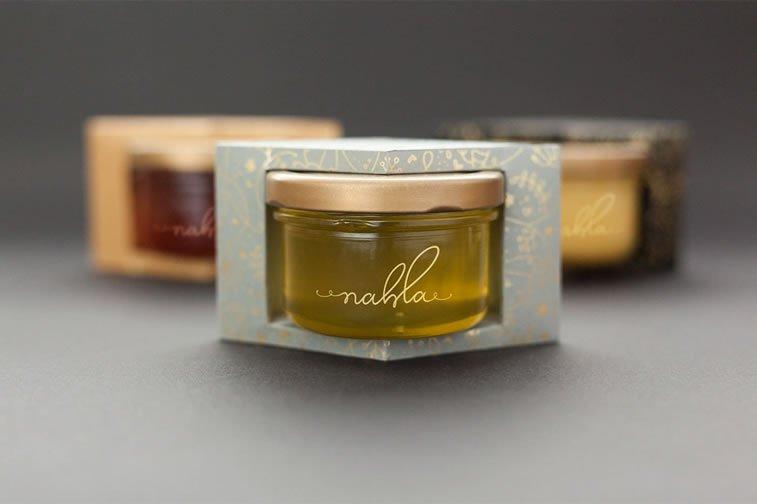 nahla organic honey packaging design 1