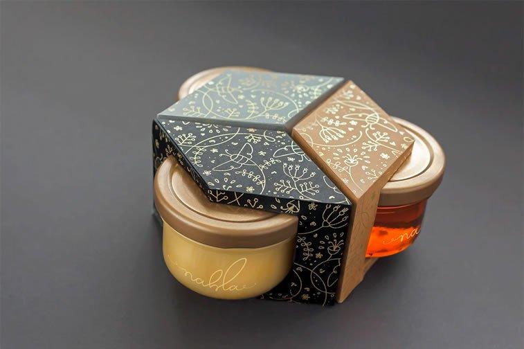 nahla organic honey packaging design 3