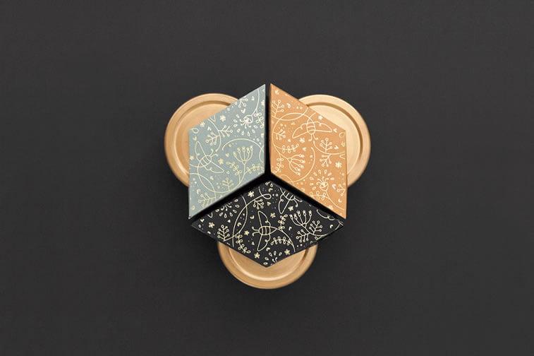 nahla organic honey packaging design 4