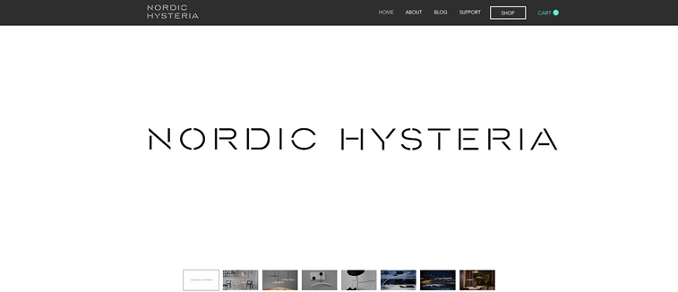 nordic hysteria vebsajt font