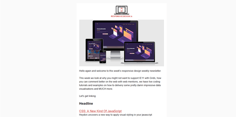 responsive design newsletter