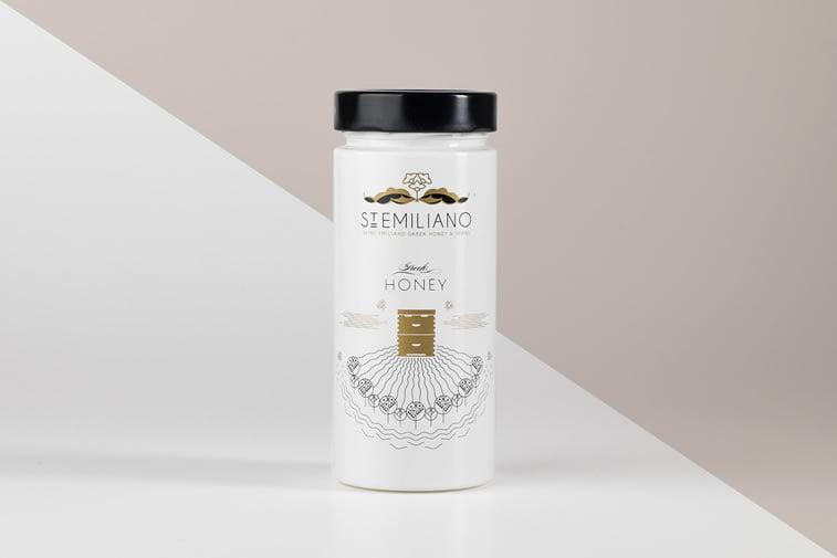 st. emiliano honey label design 1