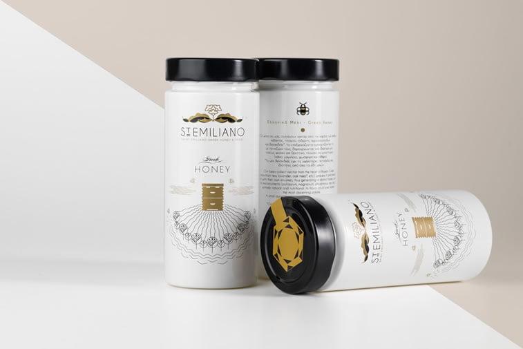 st. emiliano honey label design 2