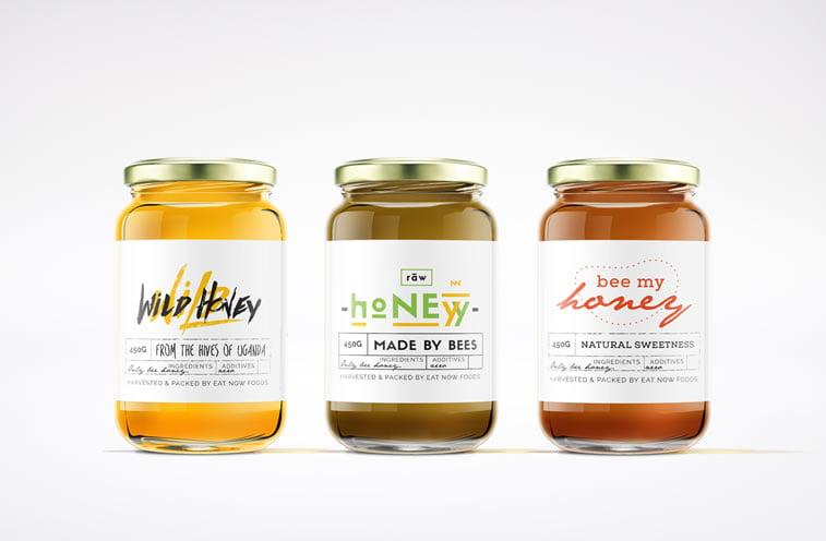 wild raw honey label design 1