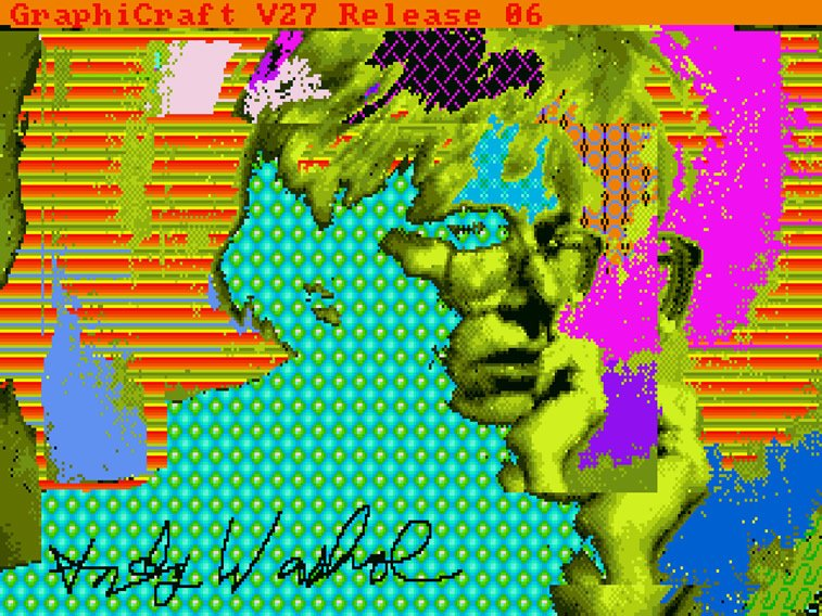 andy warhol self-portrait digital art