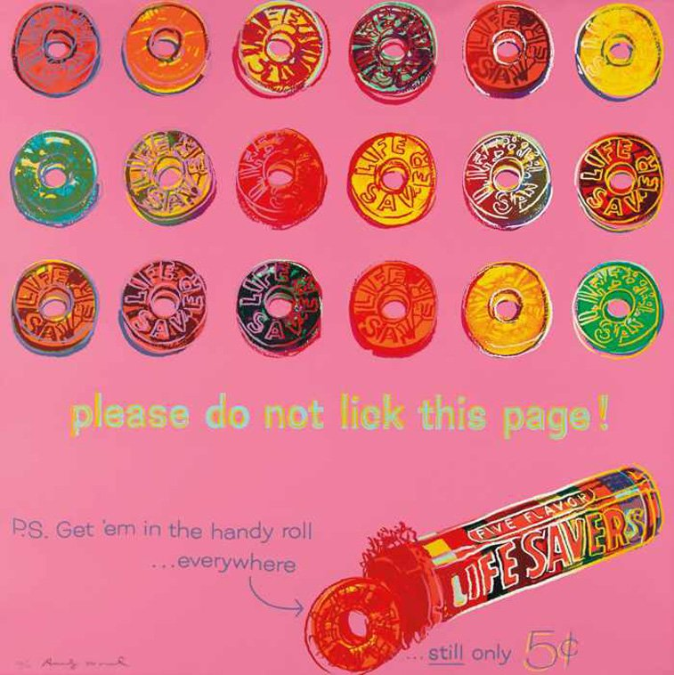 life savers donuts ad by andy warhol pop art
