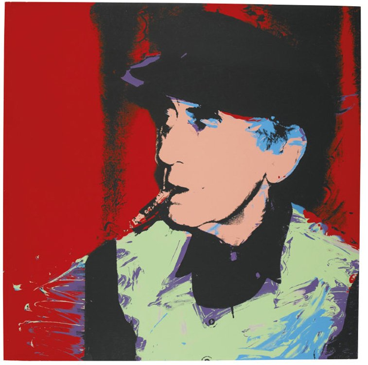 man ray portrait by andy warhol