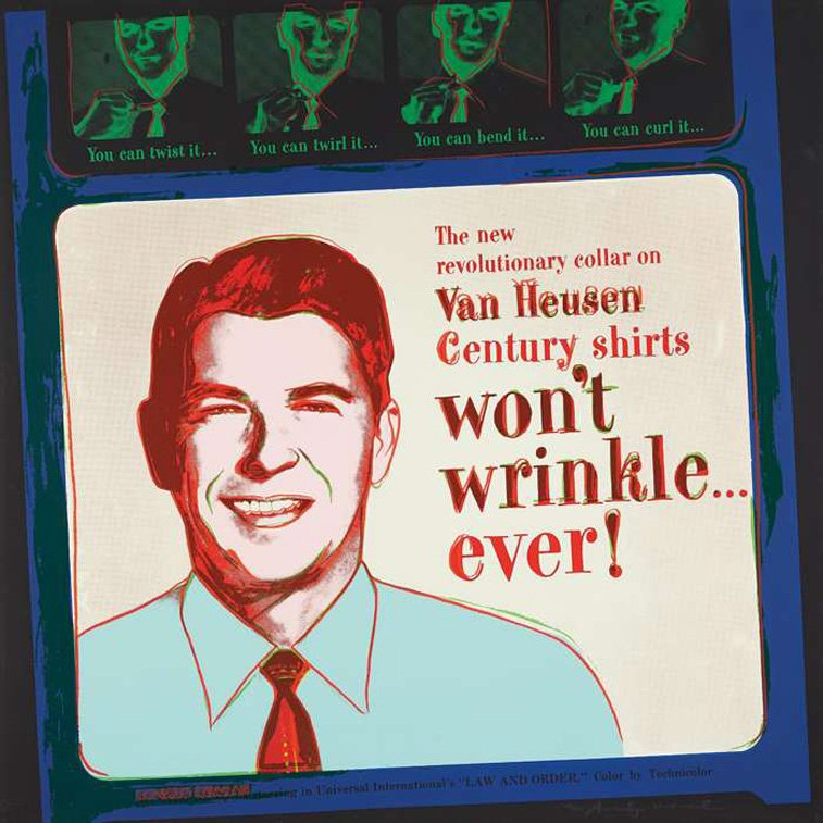 Van Heusen shirts ad with Ronald Reagan by andy warhol