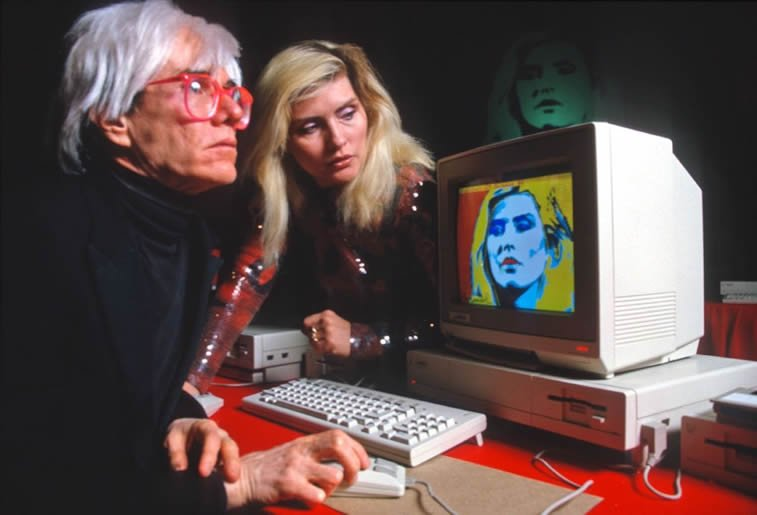 andy warhol debbie harry blondie computer art commodore amiga 1000