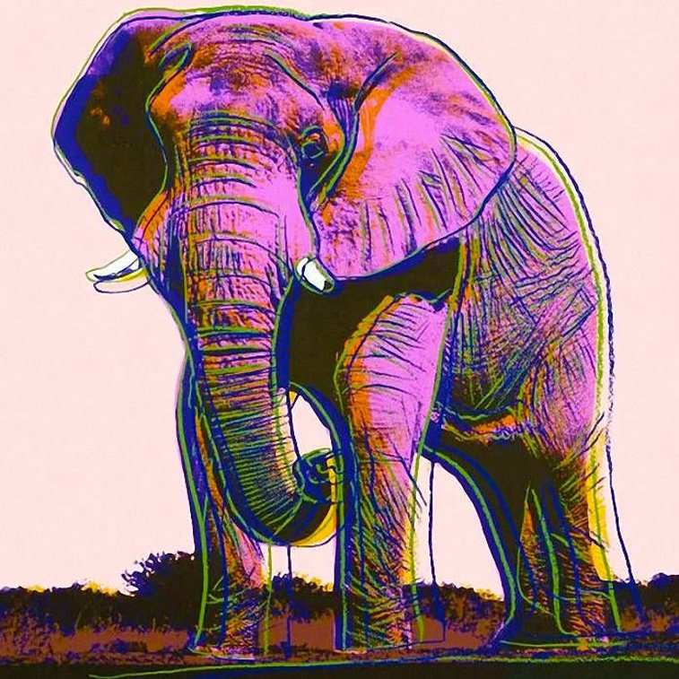 elephant by andy warhol