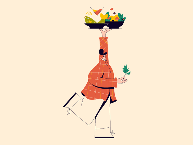 illustration linn fritz food carrier