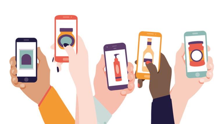 mobilni telefoni pregled proizvoda ilustracija