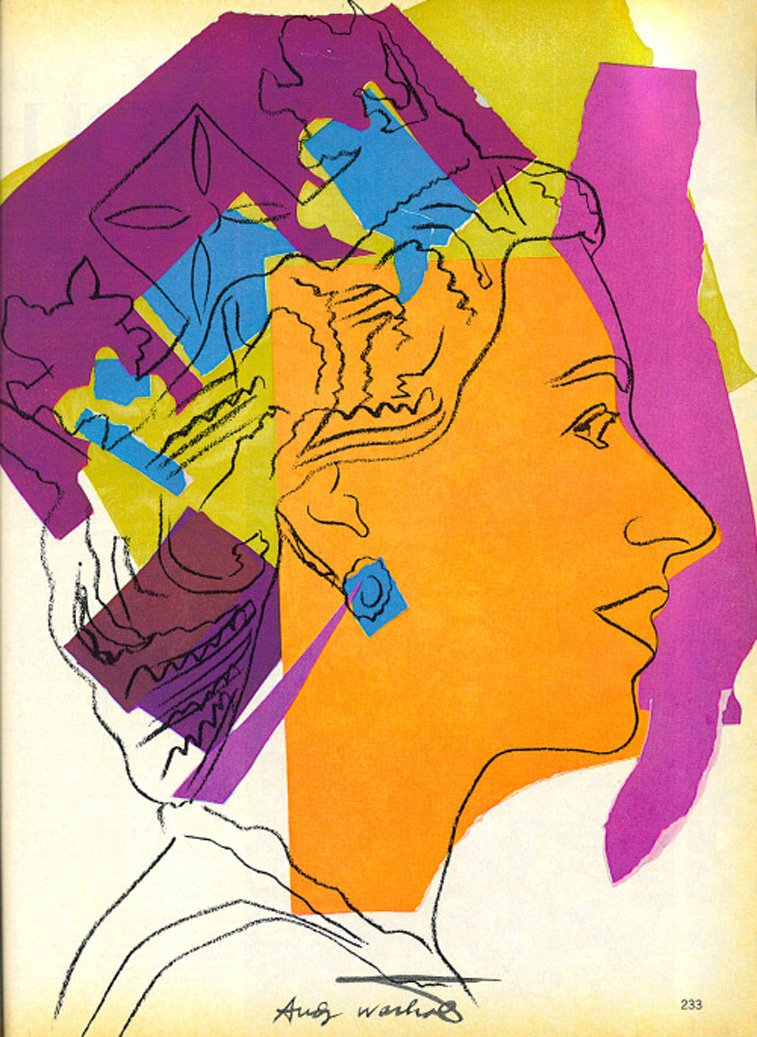 Queen Elisabeth II by andy warhol