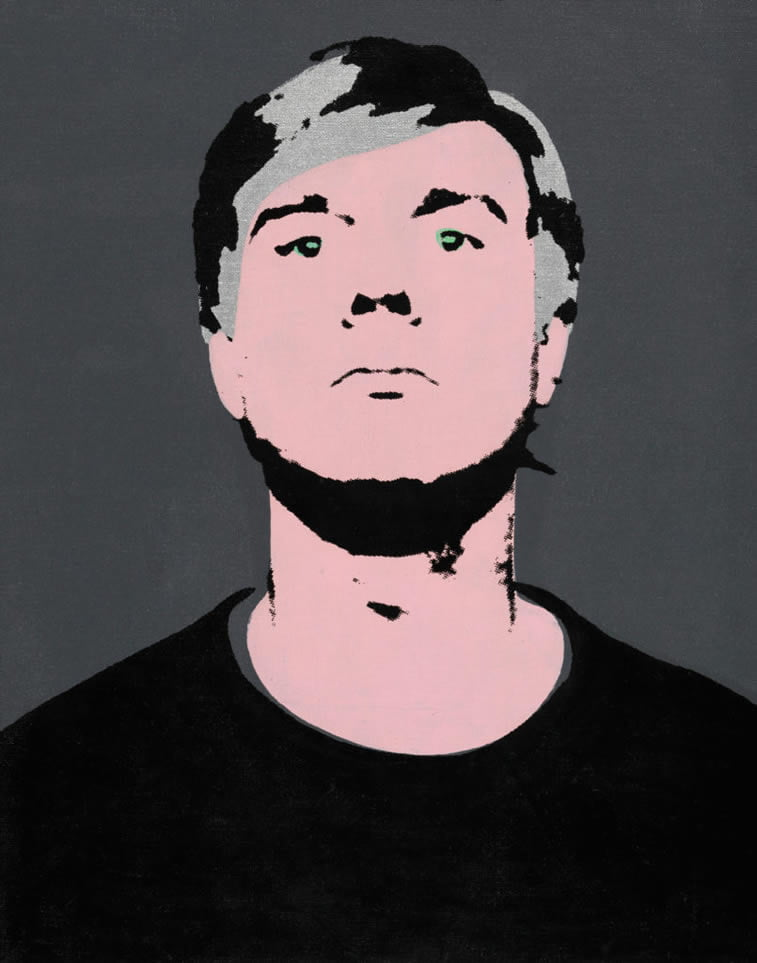 self-portrait by andy warhol 1964