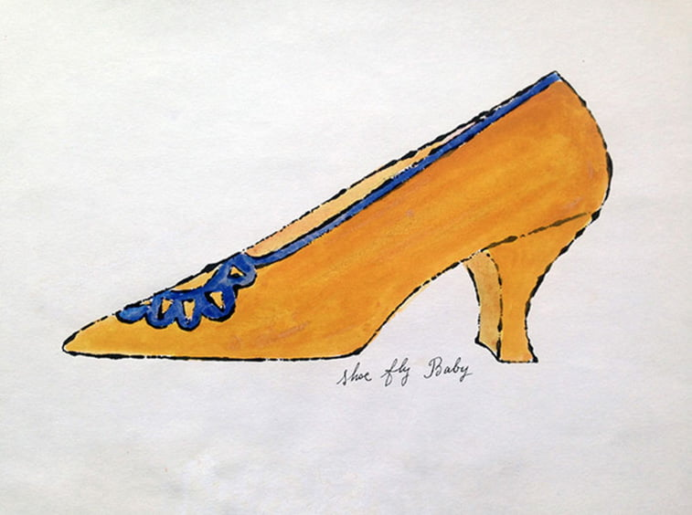 shoe drawing Shoe Fly Baby by andy warhol