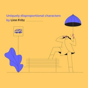 Uniquely disproportional characters by Linn Fritz