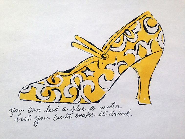 shoe drawing fashion illustration by andy warhol
