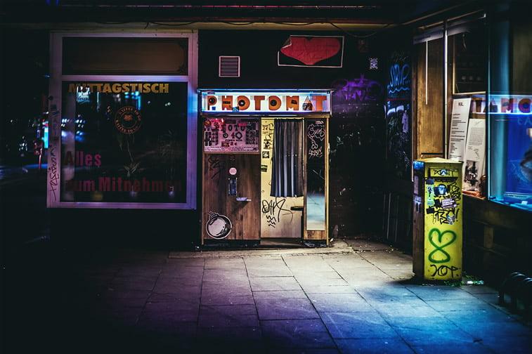 hamburg nocu fotografija foto automat